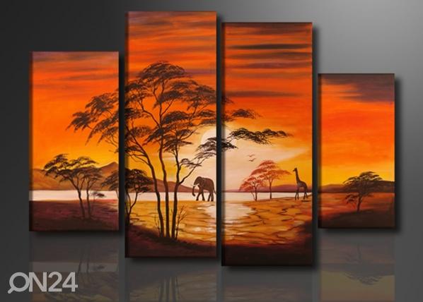Neljaosaline seinapilt Aafrika ED-88904