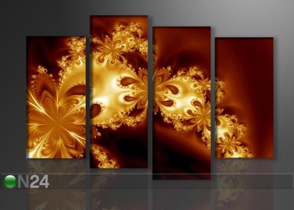 Neljaosaline seinapilt Kuldne fantaasia 130x80 cm ED-88924