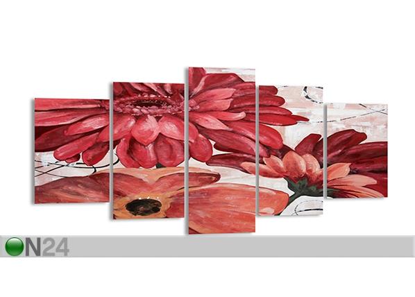 Viieosaline seinapilt Lill, 200x100 cm ED-89314