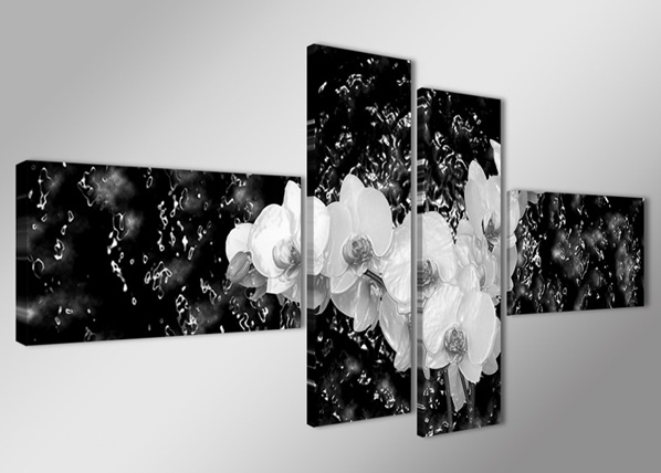 Neljaosaline seinapilt Orhidee vees 70x160 cm ED-89416