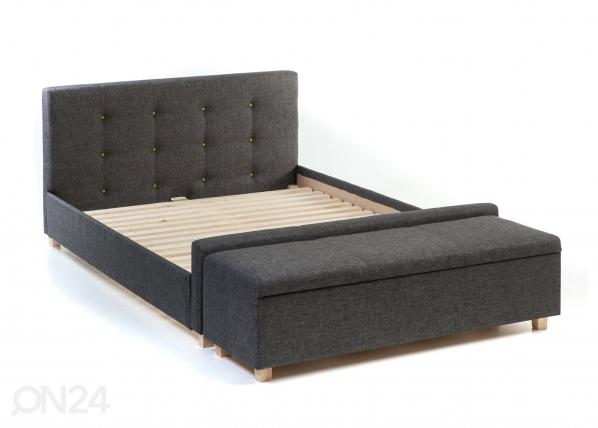 Nööpidega voodi Venecija + tumba VR-89417