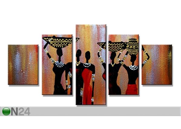 Viieosaline seinapilt Aafrika 160x80 cm ED-89563