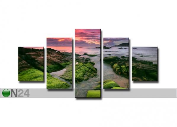 Viieosaline seinapilt Loodus 160x80 cm ED-89574