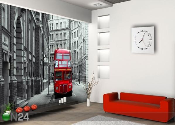 Fliis-fototapeet London bus 360x270 cm ED-90563