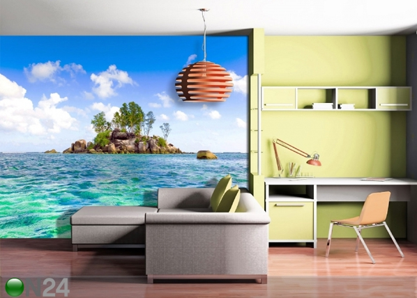 Fliis-fototapeet Island in the sea 360x270 cm ED-90592