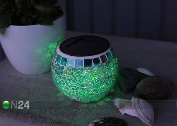 Päikeseenergial värvi muutev LED latern AA-90669