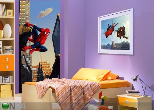 Fliis-fototapeet Spiderman and the city 90x202 cm ED-90985