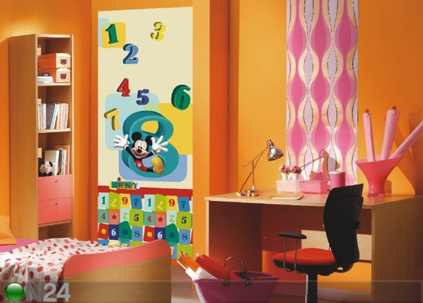 Fliis-fototapeet Disney Mickey and numbers 90x202 cm ED-91001