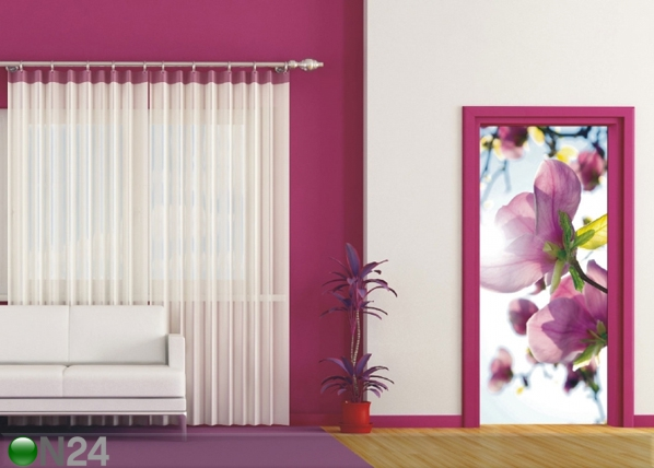 Fliis-fototapeet Flowers in the sun 90x202 cm ED-91146