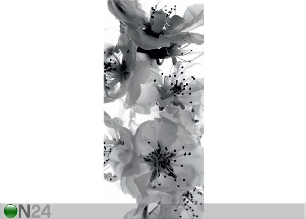 Fliis-fototapeet Black and white flower 90x202 cm ED-91147
