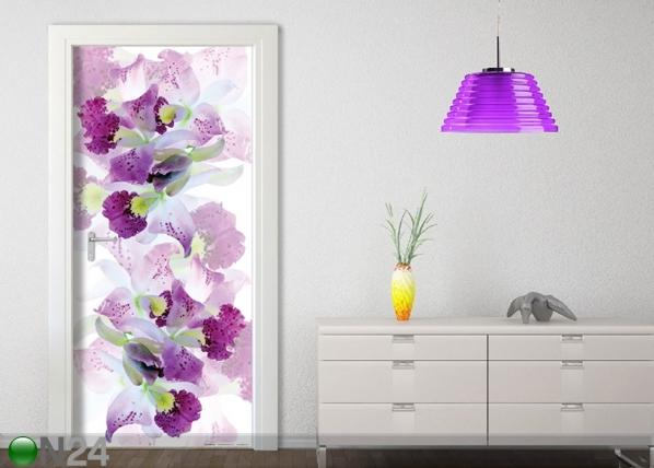 Fliis-fototapeet White Flowers 90x202 cm ED-91150