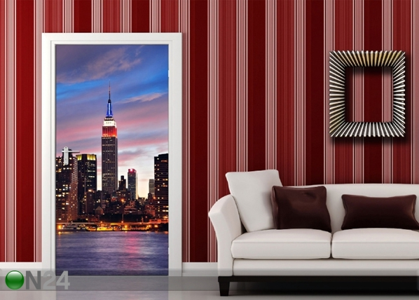 Fliis-fototapeet Sunset in New York 90x202 cm ED-91440