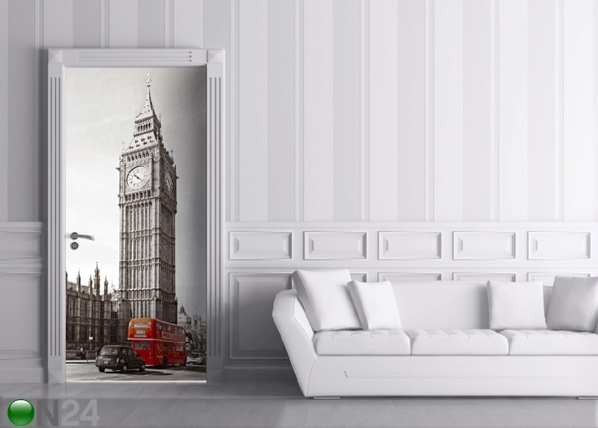 Fliis-fototapeet Big Ben and Double Decker 90x202 cm ED-91445