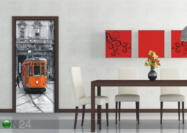 Fliis-fototapeet The tram 90x202 cm ED-91446