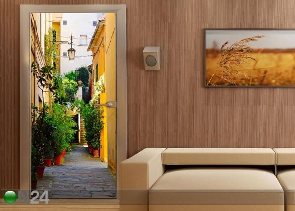 Fliis-fototapeet Courtyard 90x202 cm ED-91454