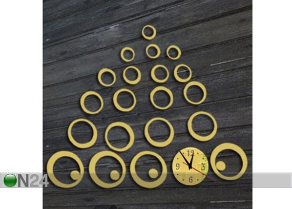 Dekoratiivne seinakell Kuldsed ringid ED-92396