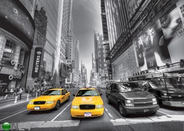 Fliis-fototapeet Manhattan cars 360x270 cm ED-94849