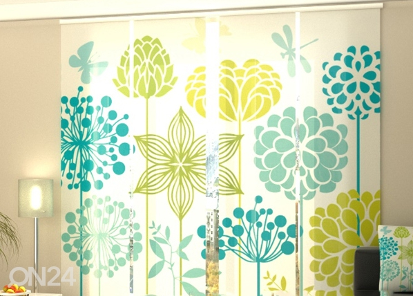 Pimendav paneelkardin Graphic flowers 240x240 cm ED-97520