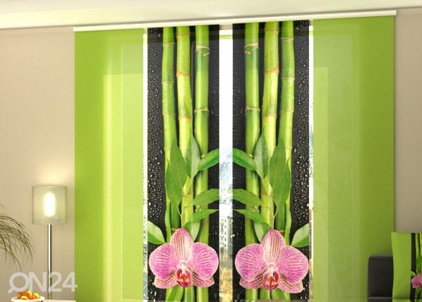 Läbipaistev paneelkardin Orchids and Bamboo 3, 240x240 cm ED-97530