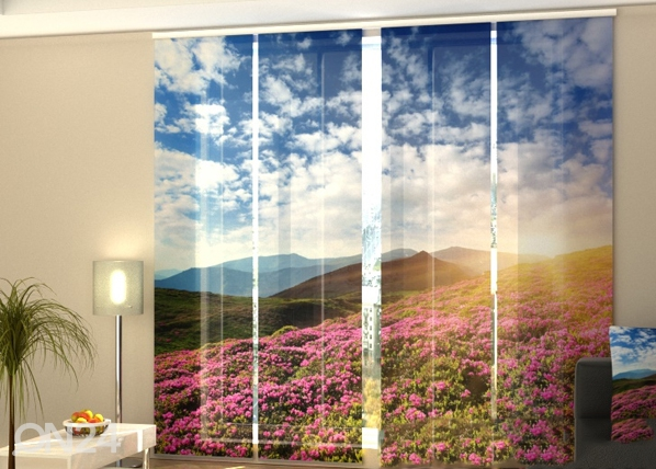 Läbipaistev paneelkardin Flowers and mountains 240x240 cm ED-97639