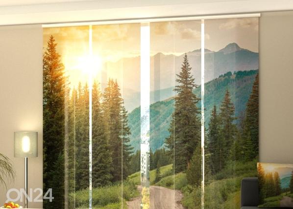 Poolpimendav paneelkardin Sun and Mountains 240x240 cm ED-97721