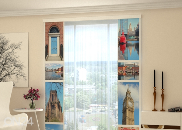 Poolpimendav paneelkardin London Attractions 80x240 cm ED-97793
