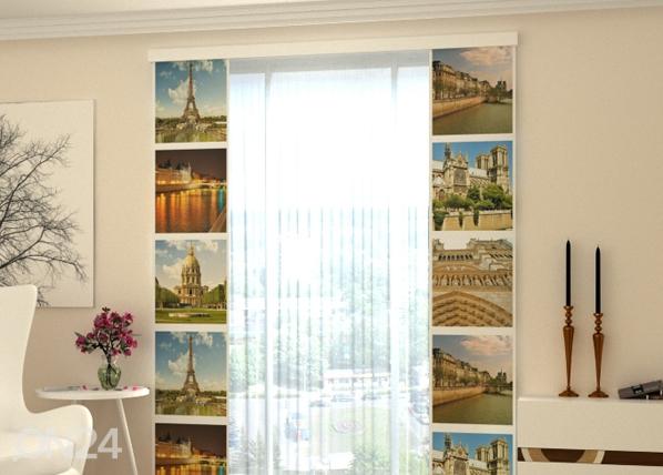 Läbipaistev paneelkardin Paris Kollage 80x240 cm ED-97805