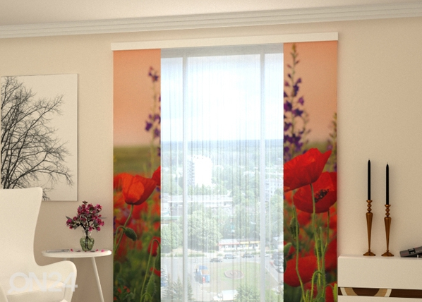 Läbipaistev paneelkardin Wonderful Poppies 80x240 cm ED-97826