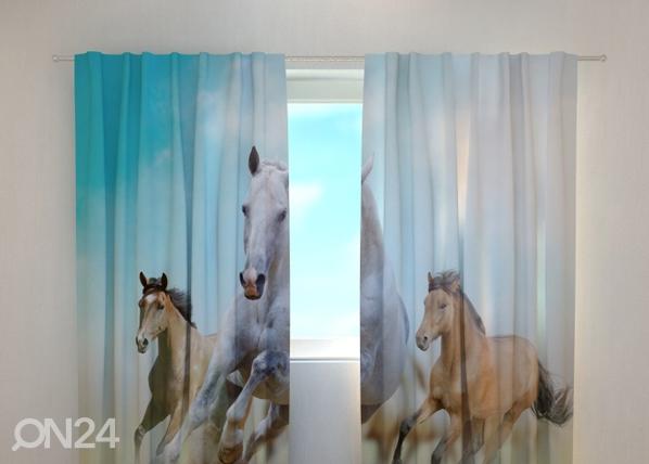 Läbipaistev kardin Horses 240x220 cm ED-98193