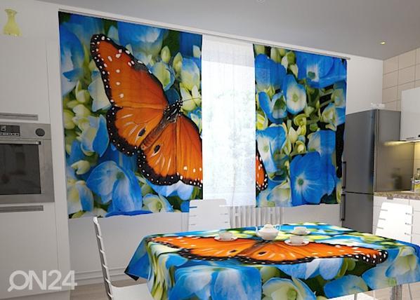 Pimendav kardin Butterfly on the blue 200x120 cm ED-98323