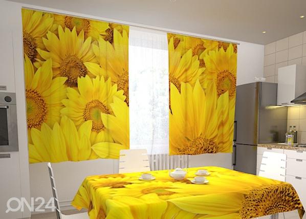 Poolpimendav kardin Sunflowers in the kitchen 200x120 cm ED-98329