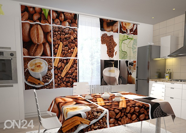 Läbipaistev kardin Coffee Africa 200x120 cm ED-98335