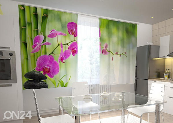 Läbipaistev kardin Crimson orchids in the kitchen 200x120 cm ED-98436