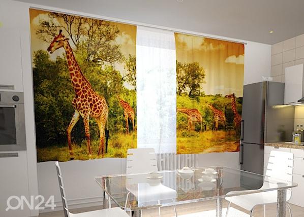 Poolpimendav kardin Giraffes in the kitchen 200x120 cm ED-98445