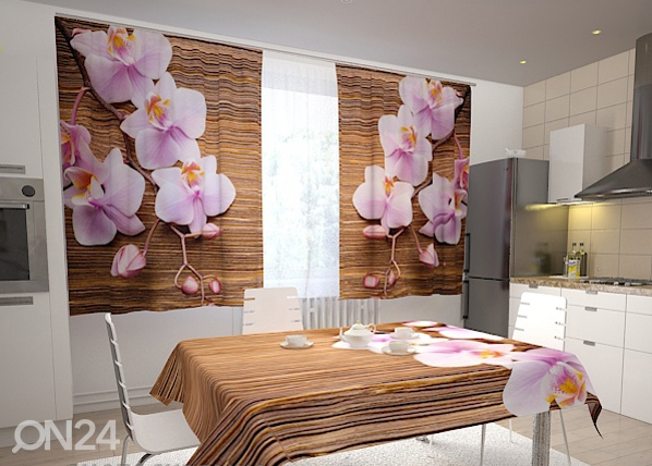 Poolpimendav kardin Orchids and tree in the kitchen 200x120 cm ED-98485