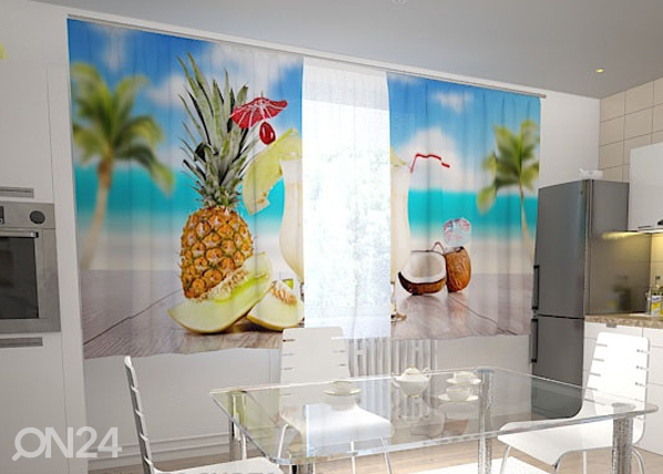 Läbipaistev kardin Hawaii in the kitchen 200x120 cm ED-98584