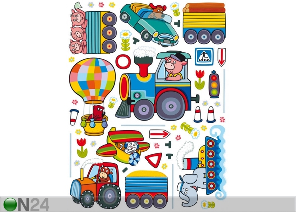 Seinakleebis The train 65x85 cm ED-98714