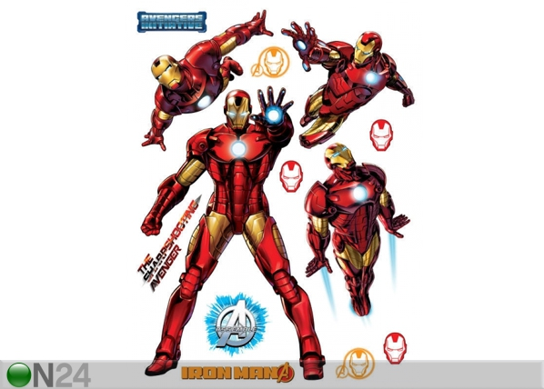 Seinakleebis Avengers Iron Man 65x85 cm ED-98746