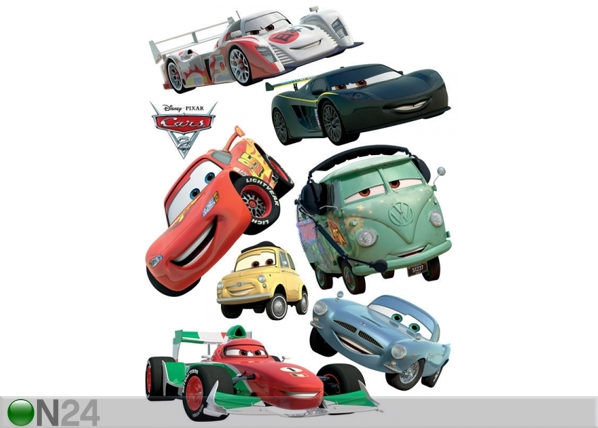 Seinakleebis Disney Cars 2 McQueen and Francesco Bernoulli 65x85 cm ED-98749