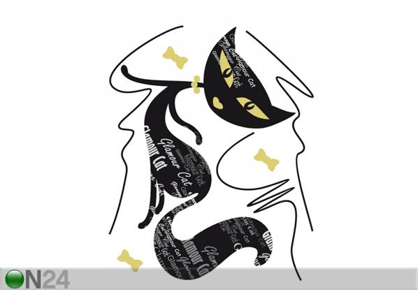 Seinakleebis Black cat 1, 65x85 cm ED-98915