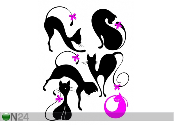 Seinakleebis Black cat 2, 65x85 cm ED-98919