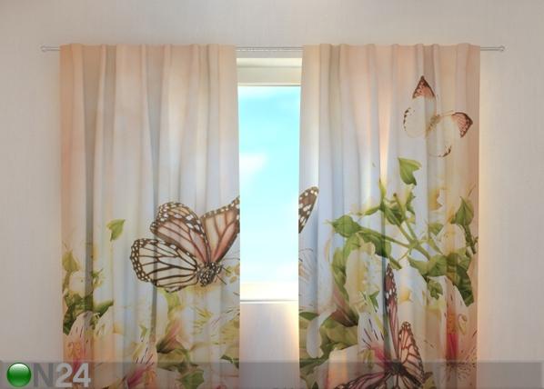 Läbipaistev kardin Irises and butterflies 220x240 cm ED-99285