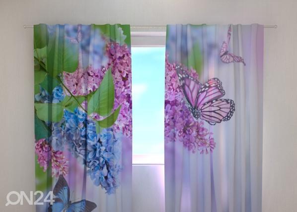 Läbipaistev kardin Lilac and butterflies 240x220 cm ED-99343