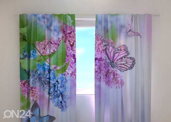 Pimendav kardin Lilac and butterflies 240x220 cm ED-99345
