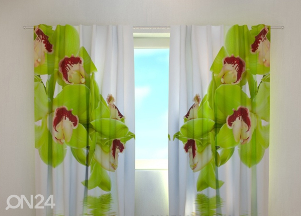Pimendav kardin Lime coloured orchid 240x220 cm ED-99368