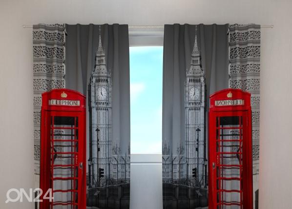 Läbipaistev kardin London telephone 240x220 cm ED-99395