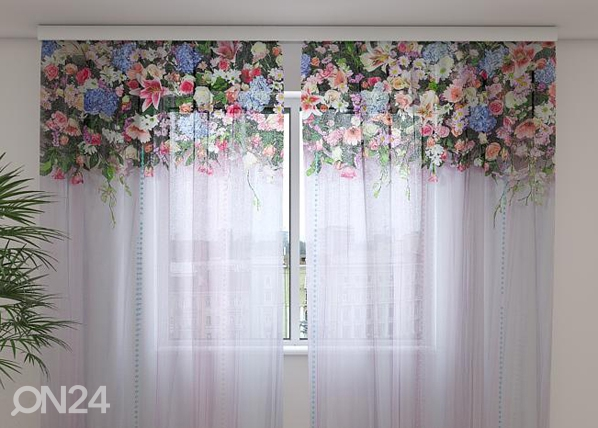 Šifoon-fotokardin Flower Lambrequins Fantasy 240x220 cm ED-99948